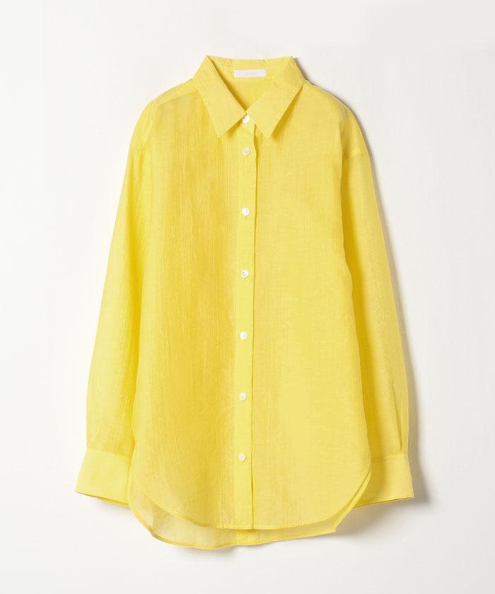 シアー楊柳ロングシャツ