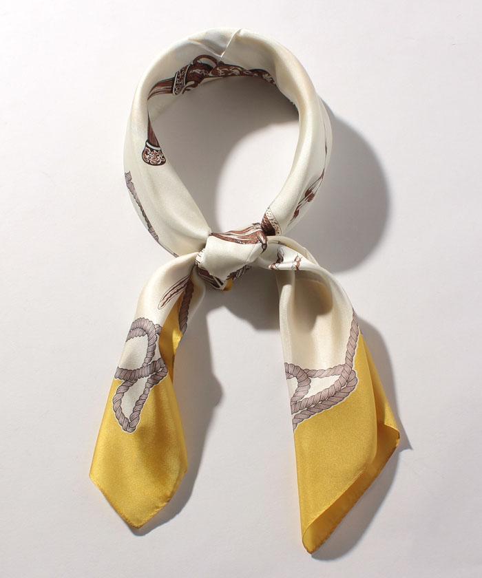 マリンパターンシルクスカーフ