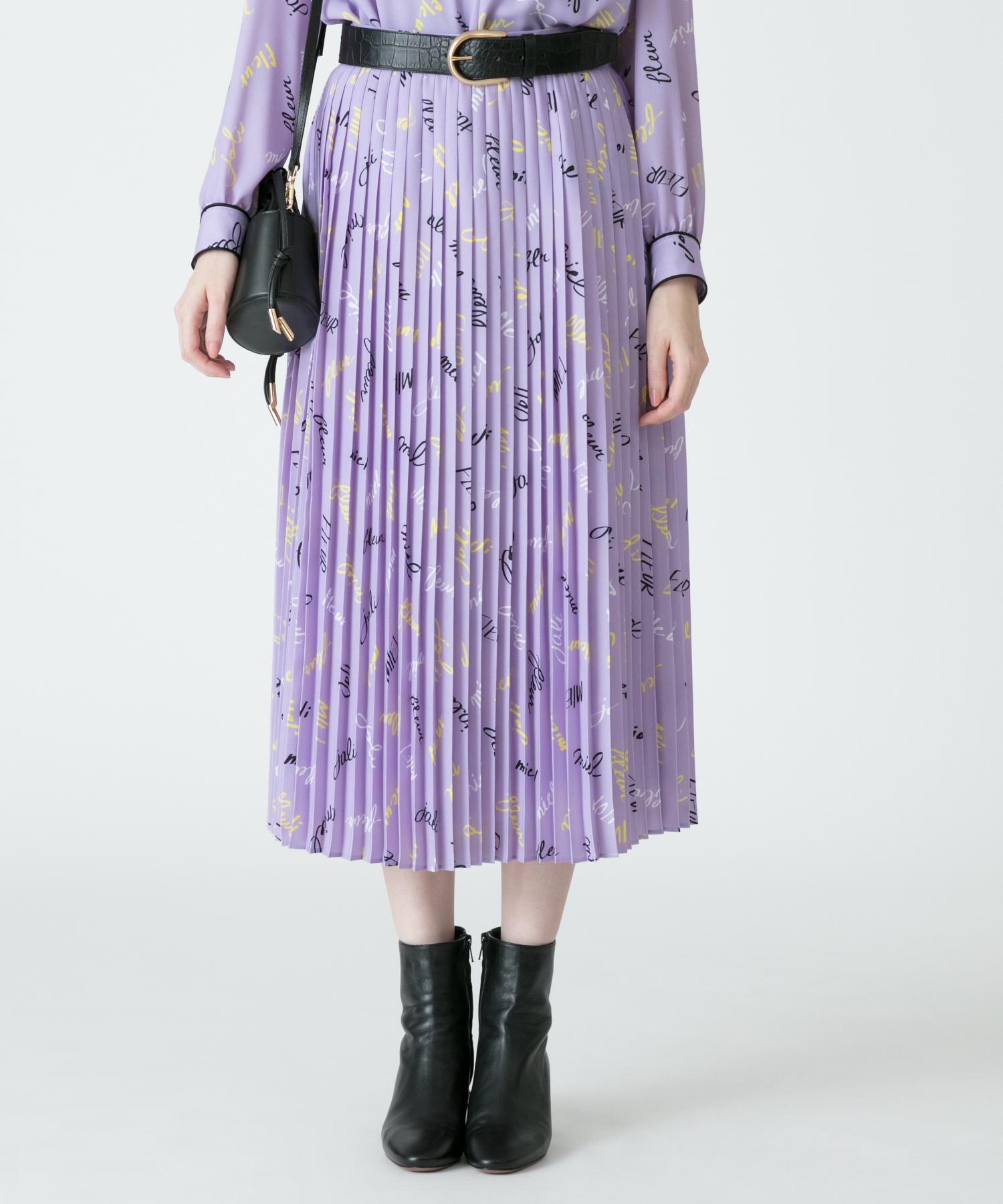 【セットアップ対応商品】【Loulou Willoughby】カラーレタードプリーツスカート