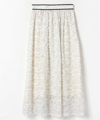 【セットアップ対応商品】【LOULOU WILLOUGHBY】コードラッセルレースギャザースカート