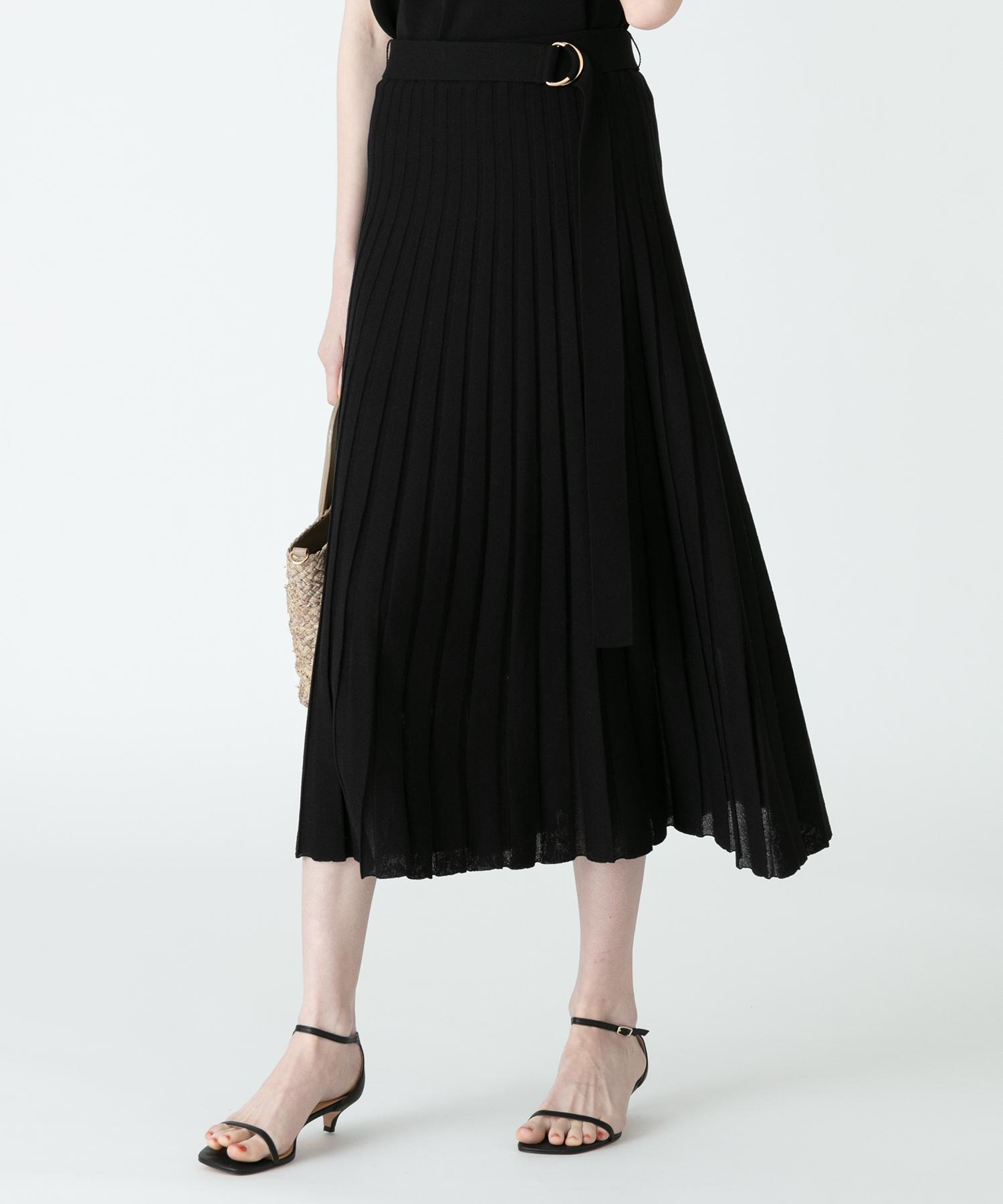【LOULOU WILLOUGHBY】プリーツニットスカート