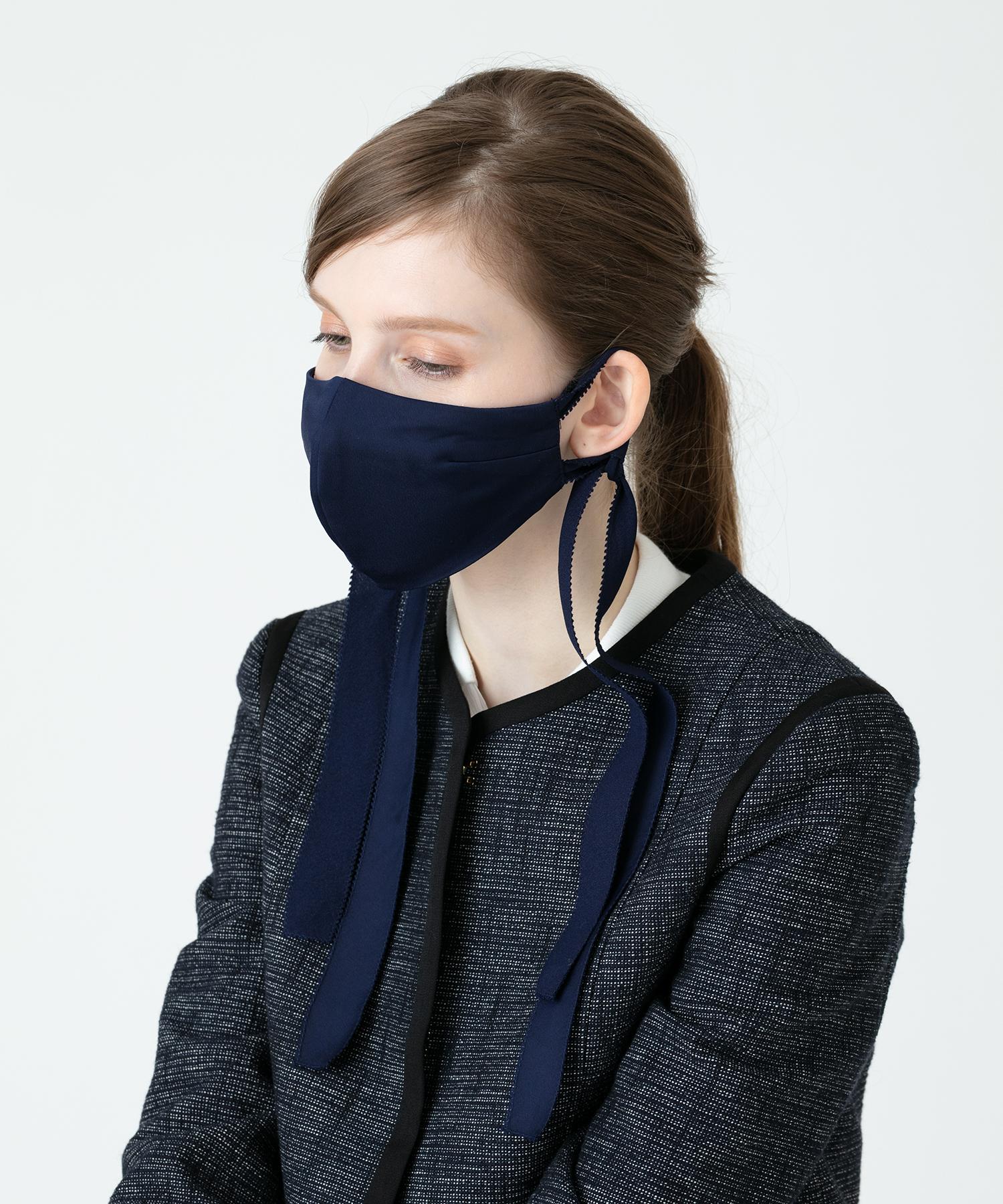 【troisiemechaco(トロワズィエムチャコ)】マットサテンサイドノットマスク