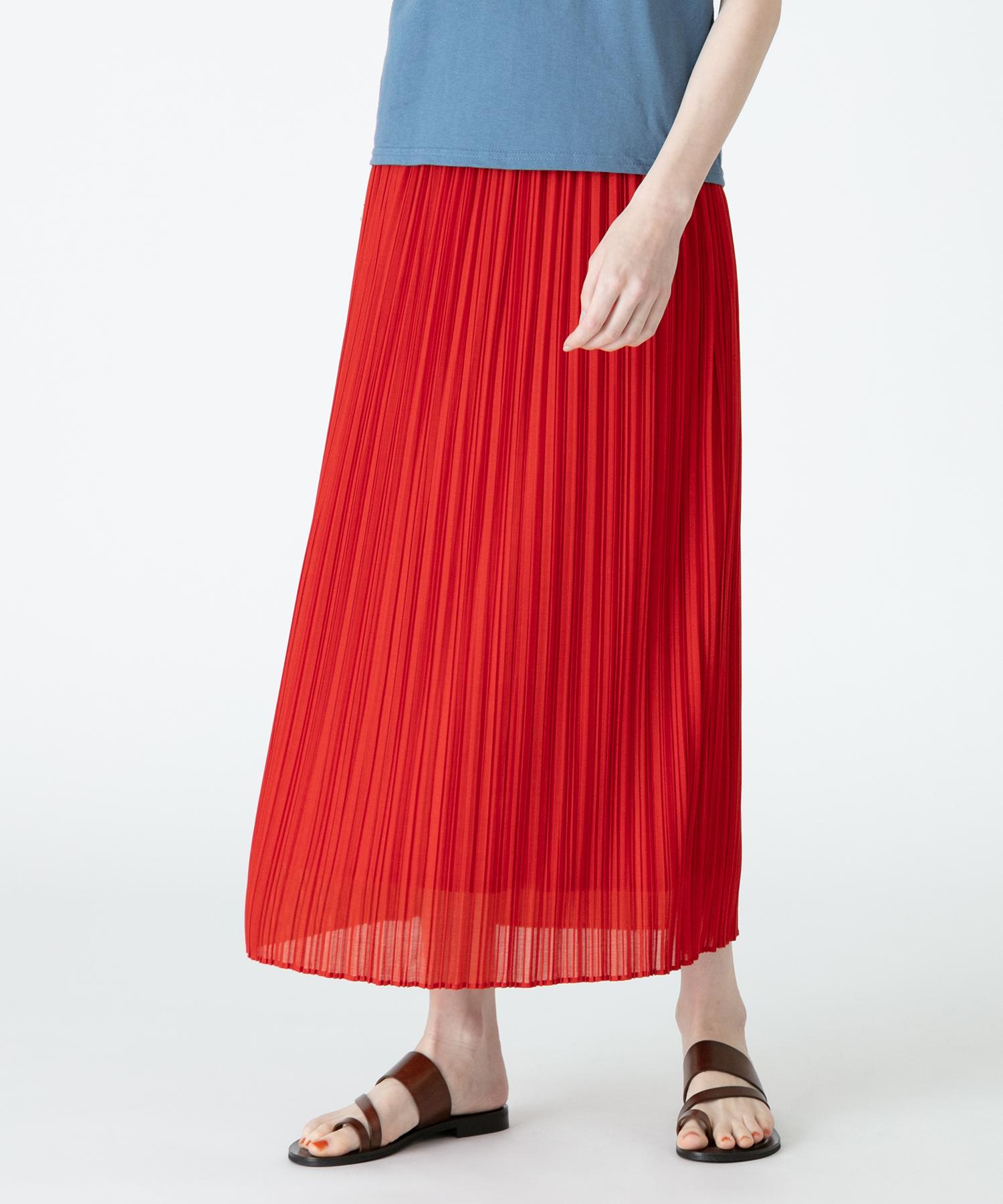 エスパンディプリーツナロースカート