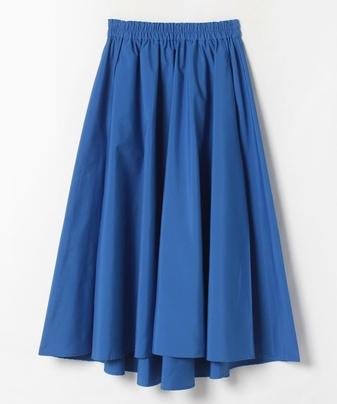 【Loulou Willoughby】ポリエステルタフタタックフレアースカート