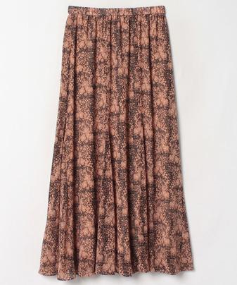 【セットアップ対応商品】フラワーチェックギャザースカート