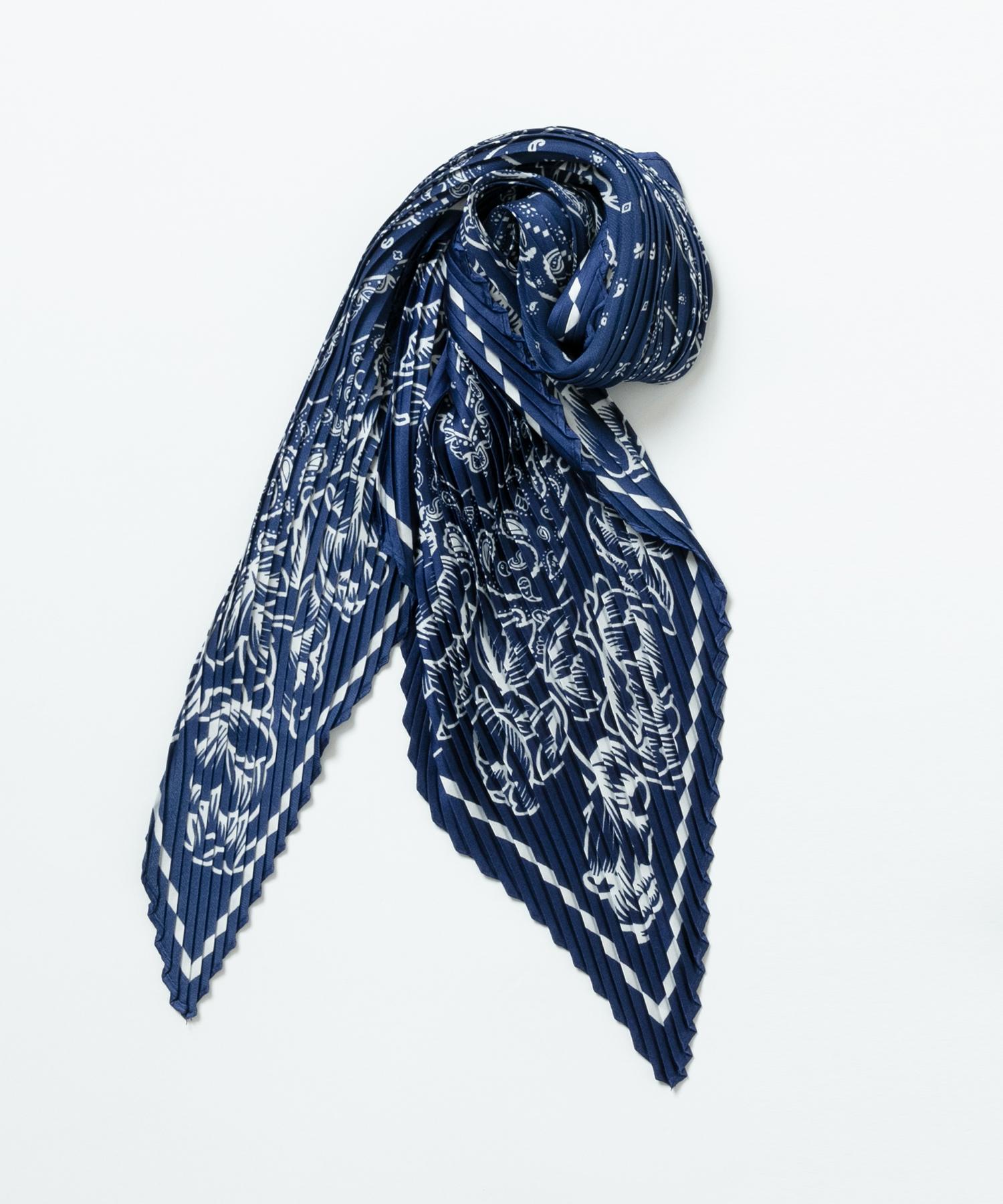 プリーツバンダナスカーフ