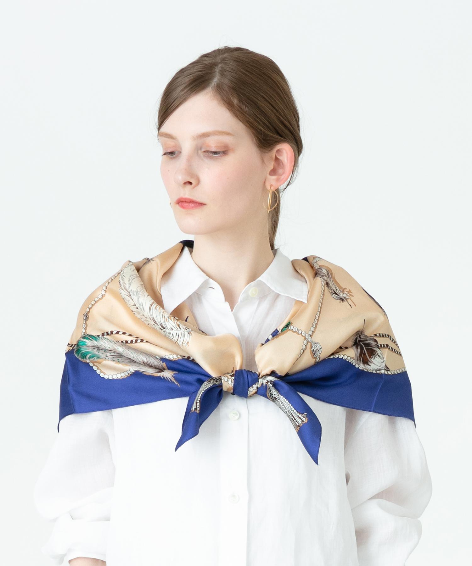 アソートパターンシルクスカーフ