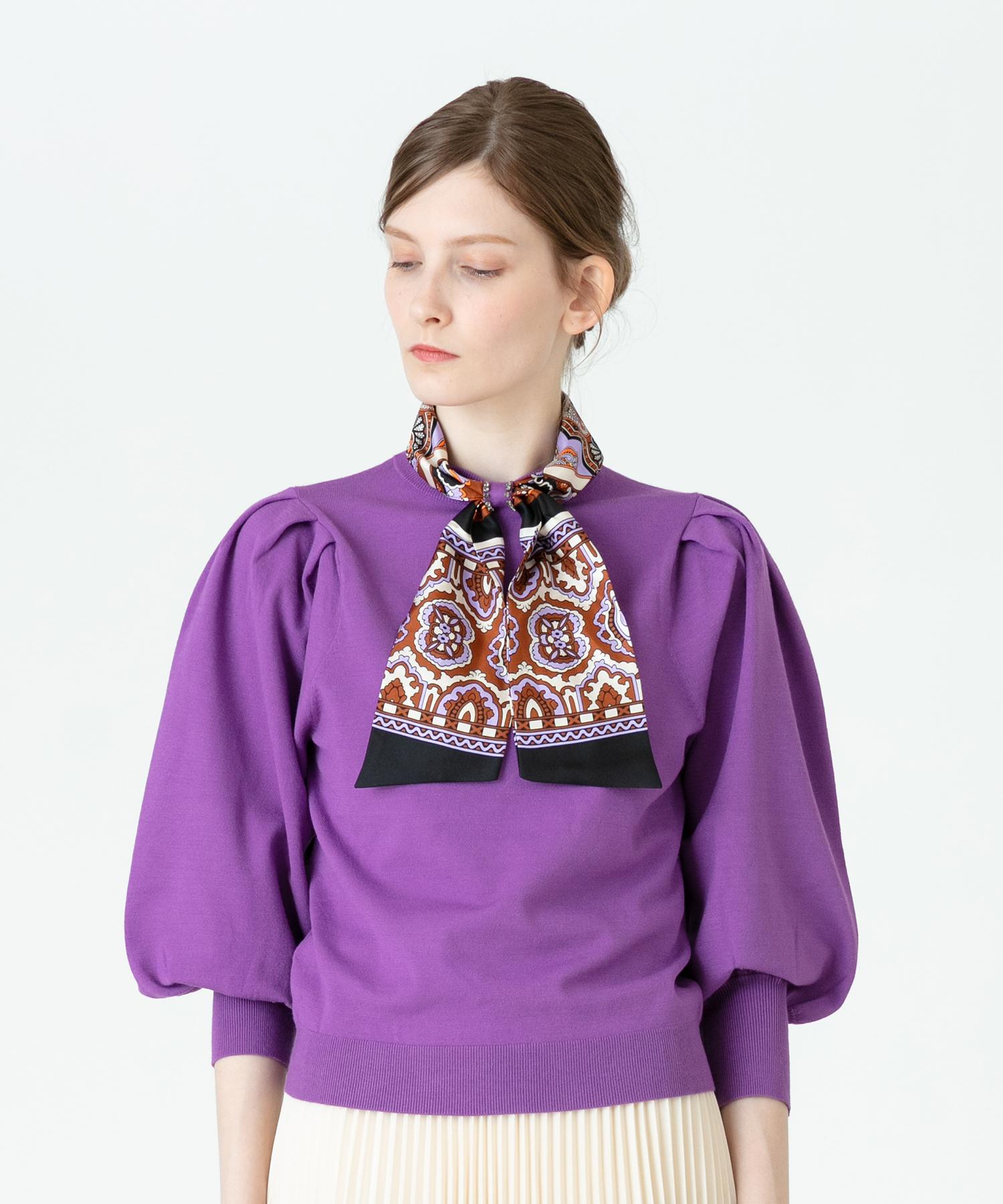 【Loulou Willoughby】スカーフ付きプルオーバー