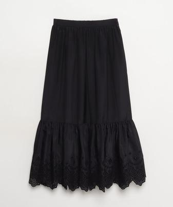 【セットアップ対応商品】【LOULOU WILLOUGHBY】スパンローン刺繍スカート
