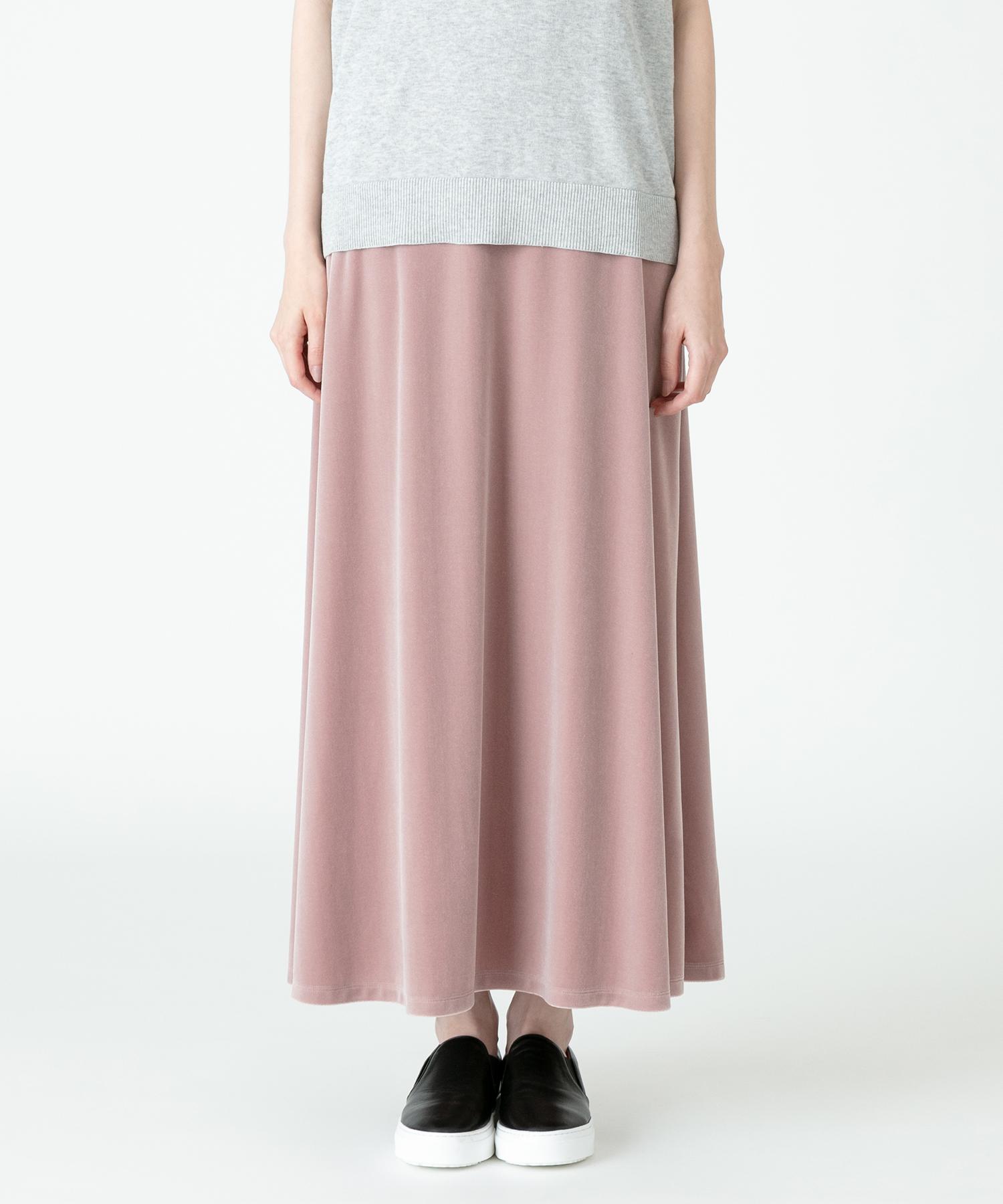 ベロアフレアスカート