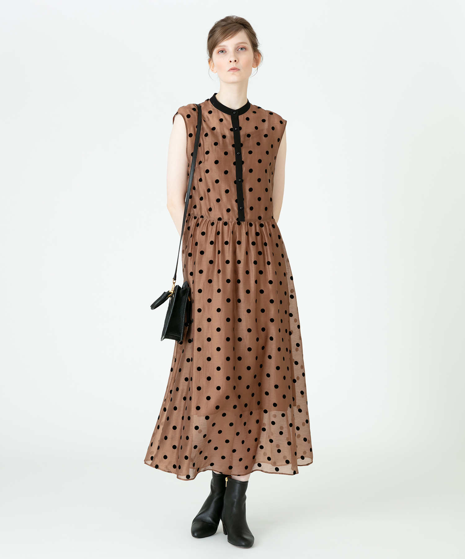 【LOULOU WILLOUGHBY】フロッキードットワンピース