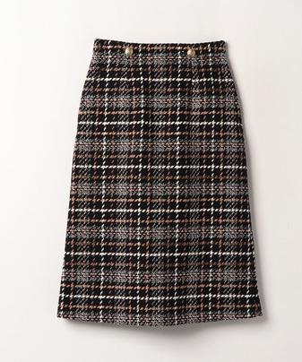 ビッグチェックAラインスカート