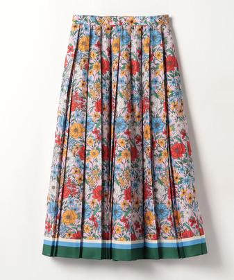 【セットアップ対応商品】【LOULOU WILLOUGHBY】ボタニカルパネルフラワースカート