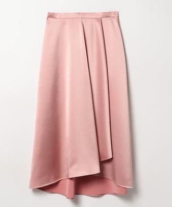 【LOULOU WILLOUGHBY】サテンアシメドレープスカート