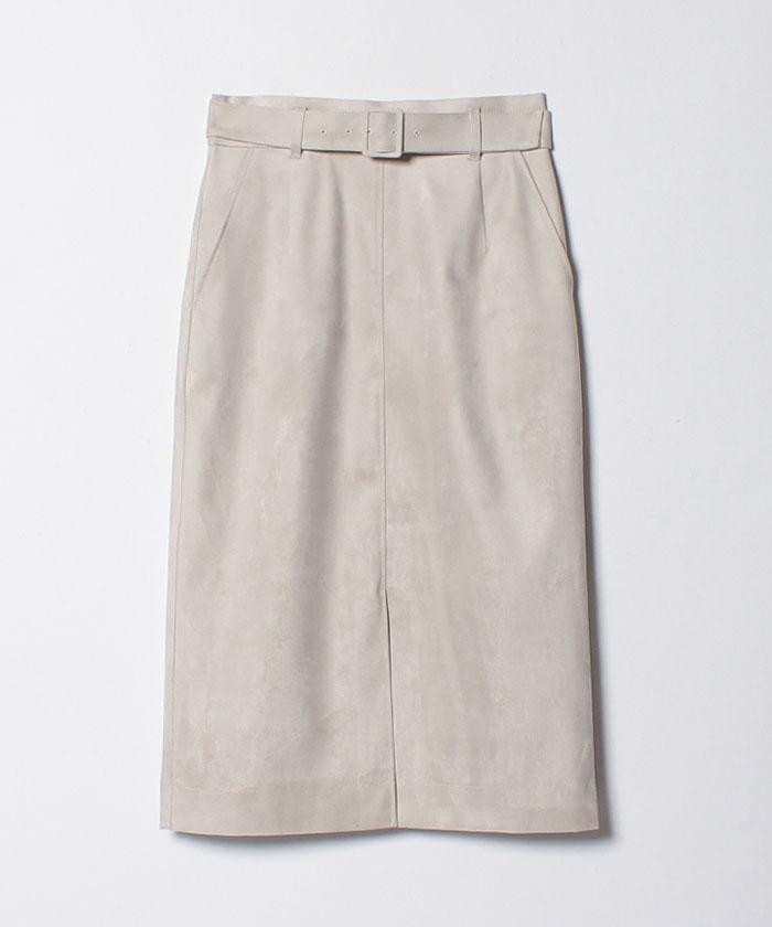 フェイクスエードボンディングスカート