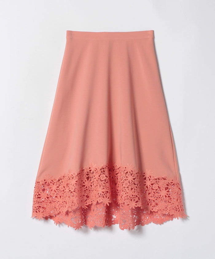 【TVドラマ着用】ダブルクロス刺繍フレアスカート