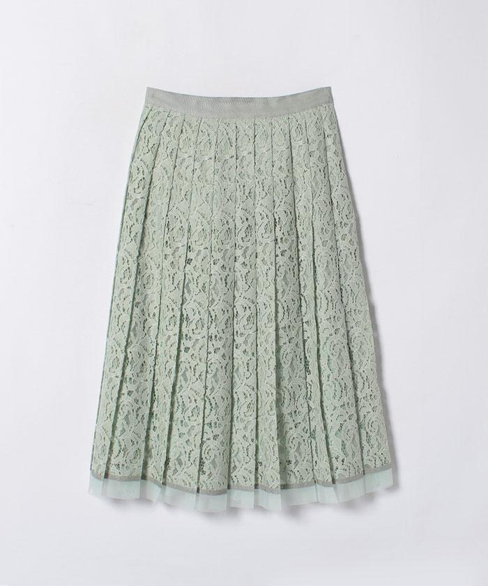 ジャガードレースプリーツスカート