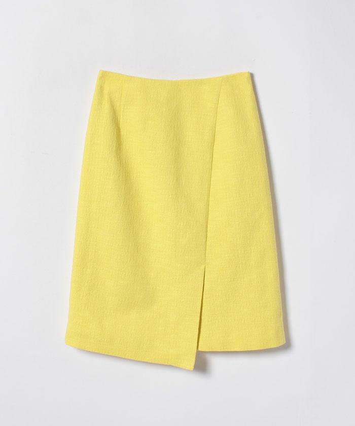 【セットアップ対応商品】スラブジャガードラップ風スカート