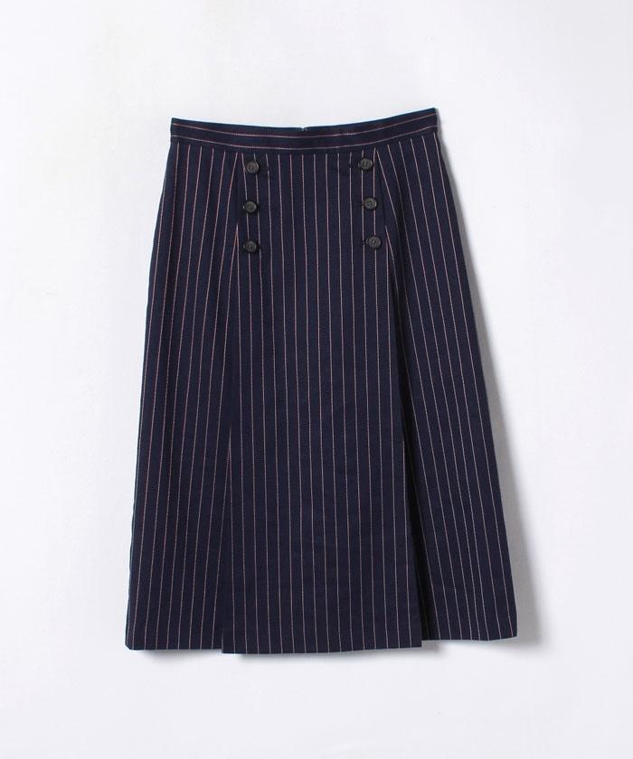 リネンストライプAラインスカート