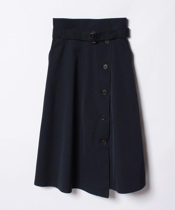 ポリエステルツイルトレンチスカート