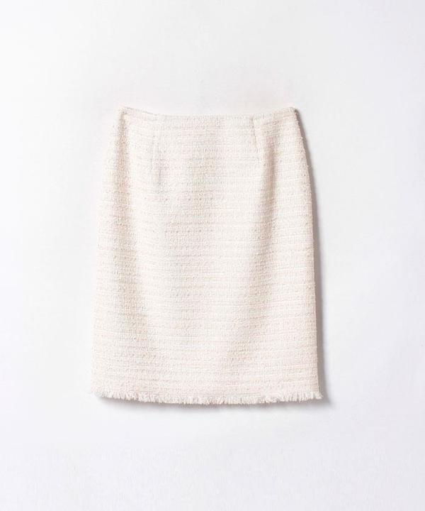 リボンヤーンツイードタイトスカート