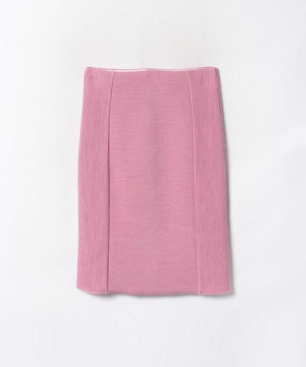 ウールシルクリップルタイトスカート