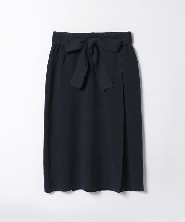 【セットアップ対応商品】レーヨンナイロンラップスカート