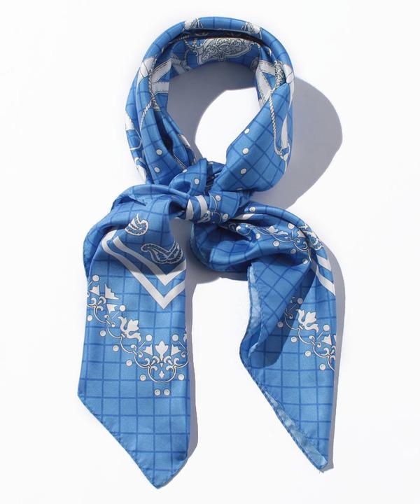 ベルトバンダナプリントスカーフ