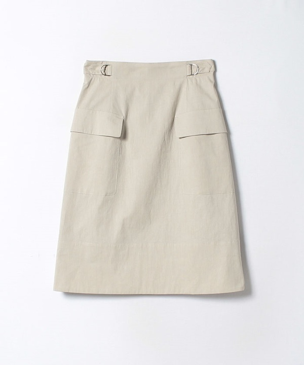 コットンリネンAラインスカート