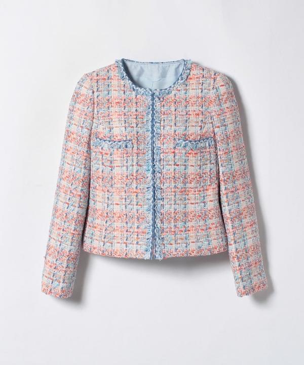 【セットアップ対応商品】オレンジブルーツイードクルージャケット