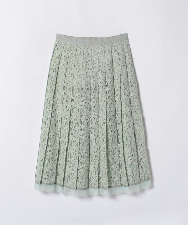 【TVドラマ着用】ジャガードレースプリーツスカート
