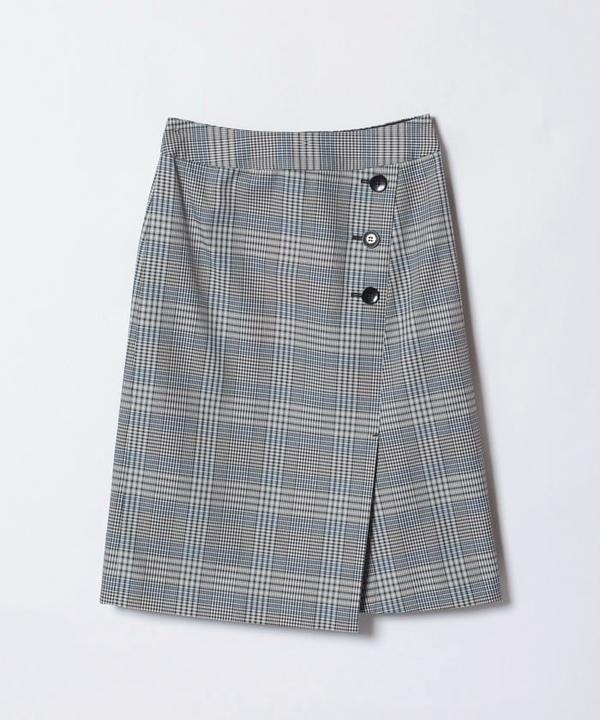 メモリーチェックラップスカート