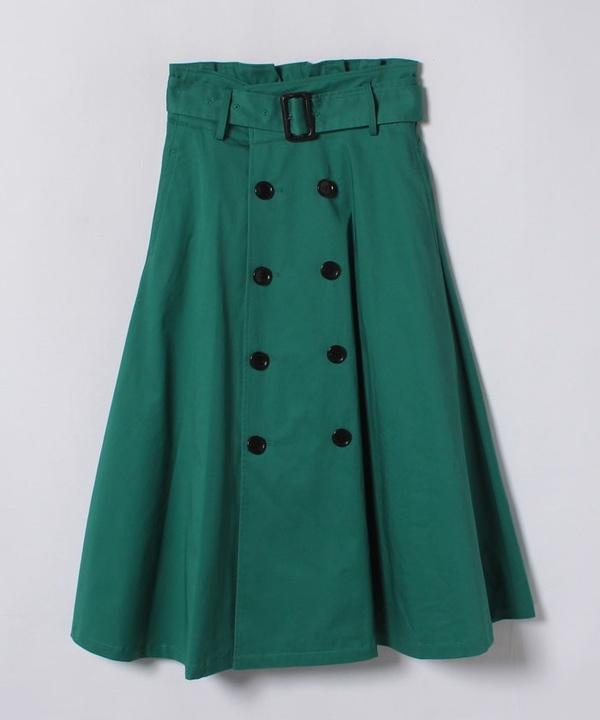 ギャバストレッチトレンチスカート