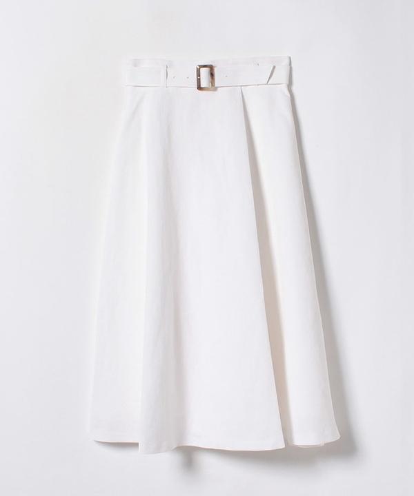 コットンリネンラップ風スカート