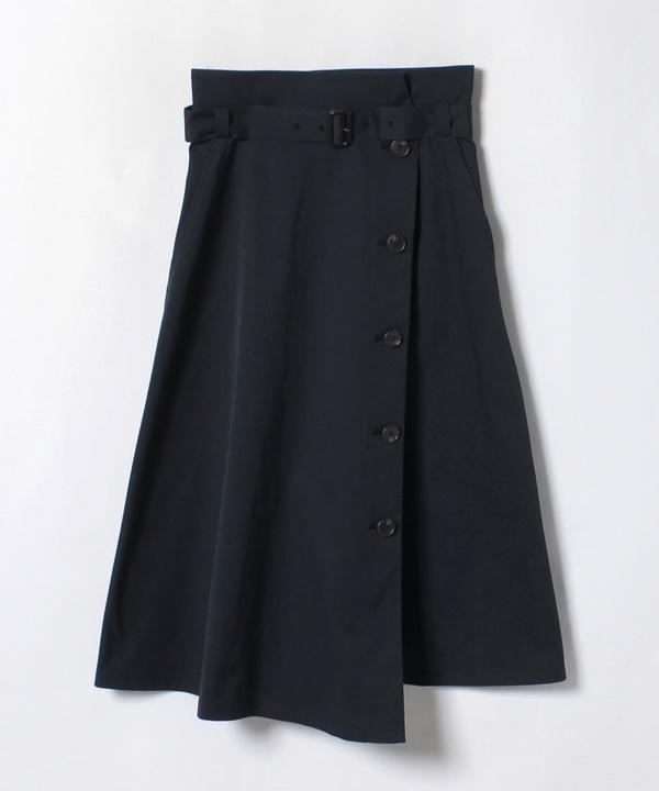 マットツイルトレンチスカート