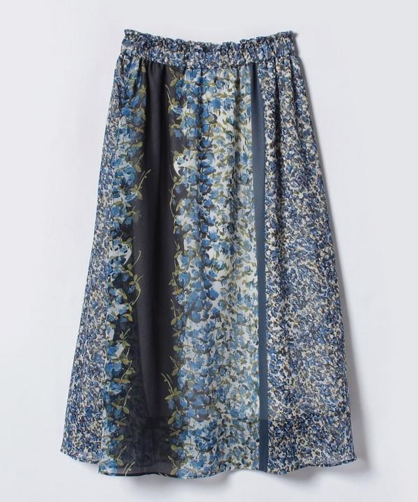 【追加】【セットアップ対応商品】コバナパネルプリントギャザースカート