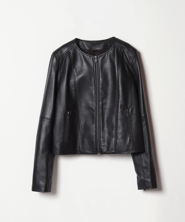 ★レザーノーカラージャケット