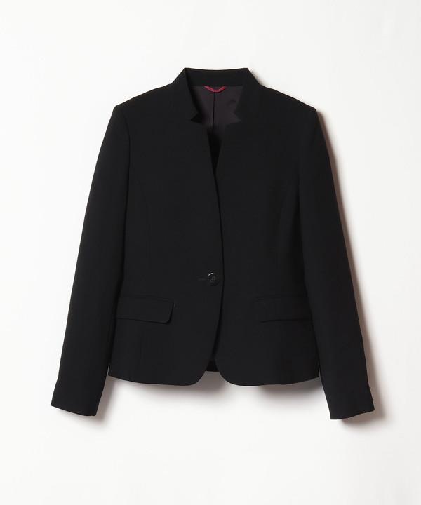 ウールジョーゼットペプラムジャケット
