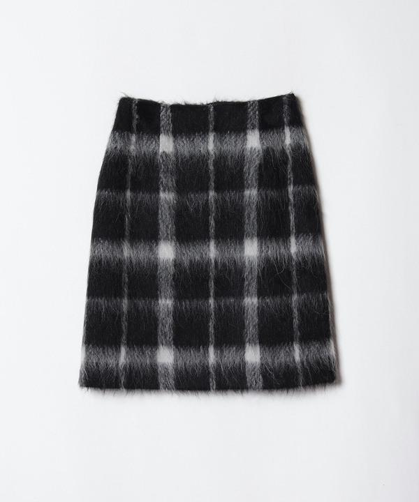 シャギーチェックAラインスカート