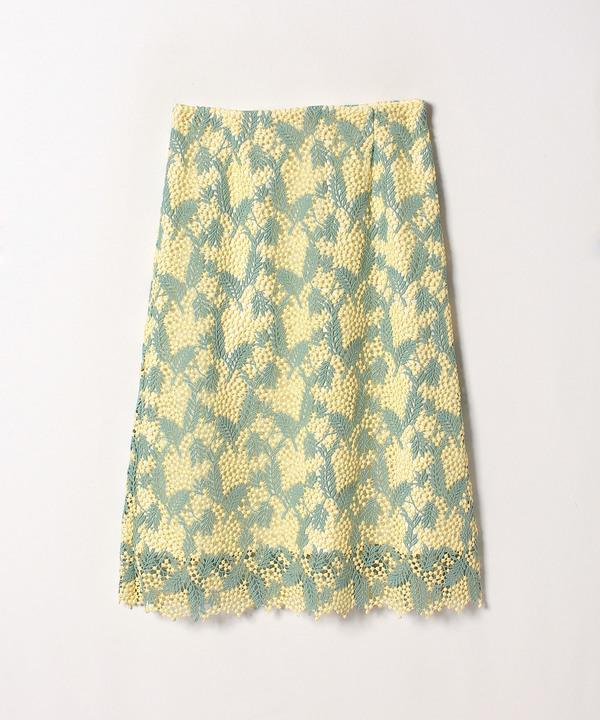 ミモザレースAラインスカート