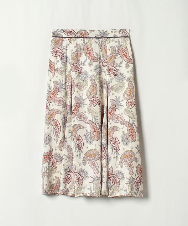 【セットアップ対応商品】★ペイズリープリントマチイリフレアスカート