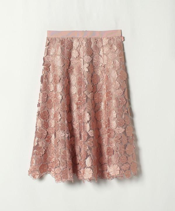 ★3Dレースフレアスカート