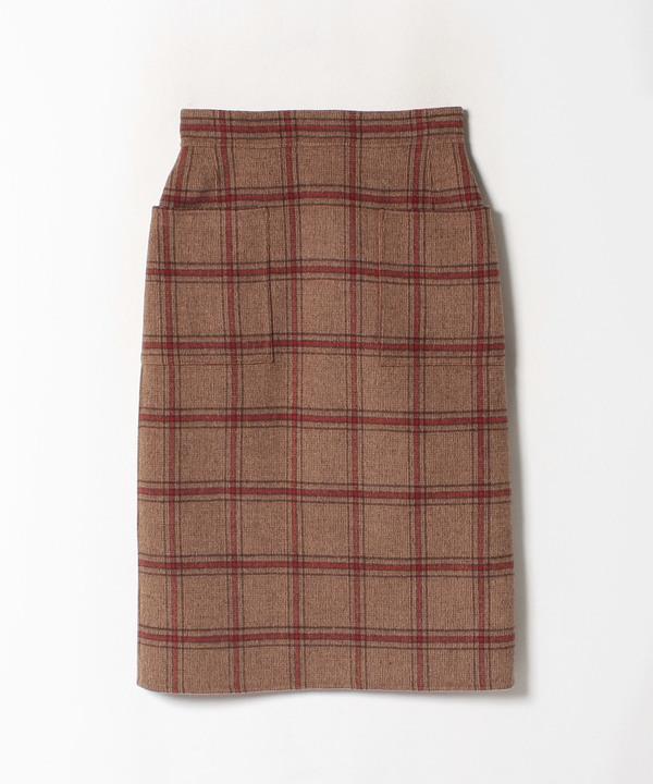 【セットアップ対応商品】チェックリバータイトスカート