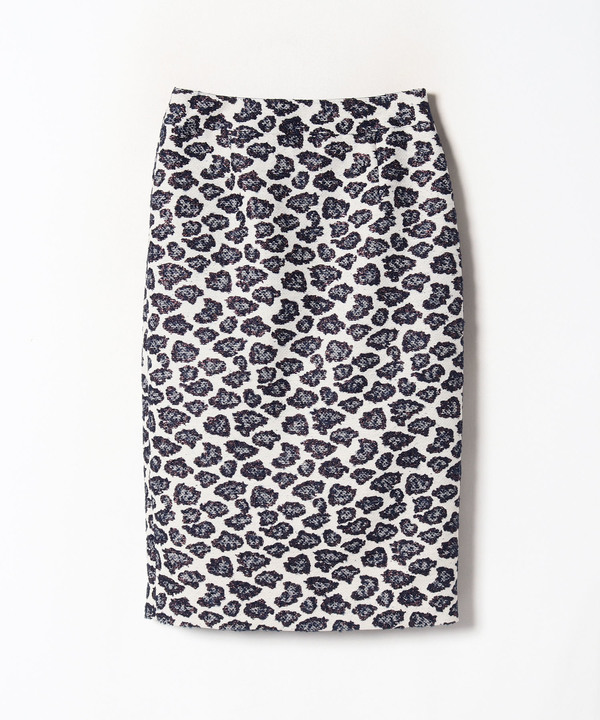 ラメレオパードタイトスカート