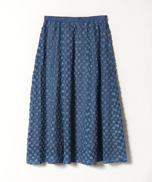【セットアップ対応商品】ラメカットジャガードフレアスカート