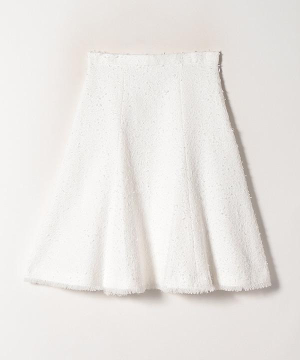 【セットアップ対応商品】ファンシーツイードフレアスカート