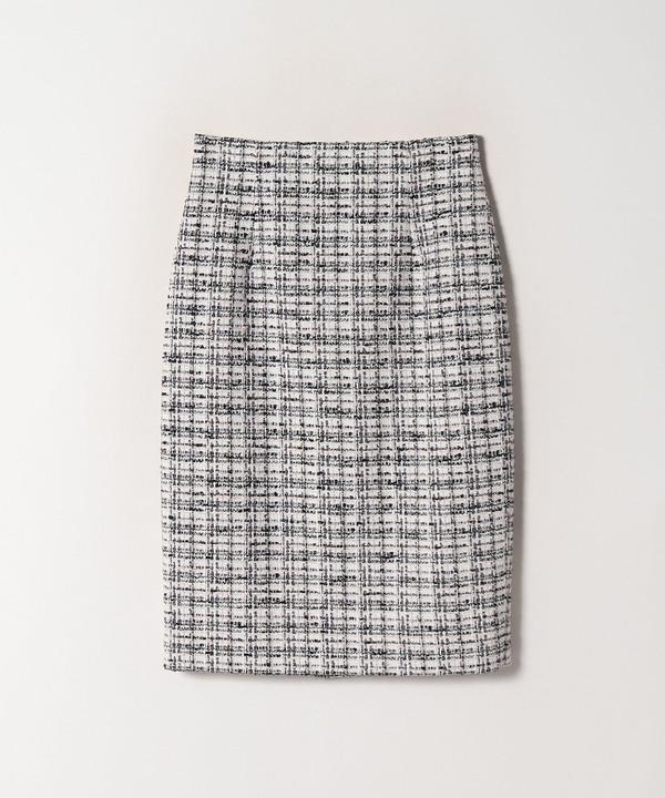 【セットアップ対応商品】リボンヤーンツイードタイトスカート