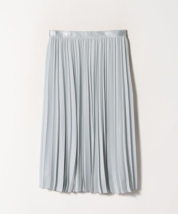 バックサテンアムンゼンプリーツスカート
