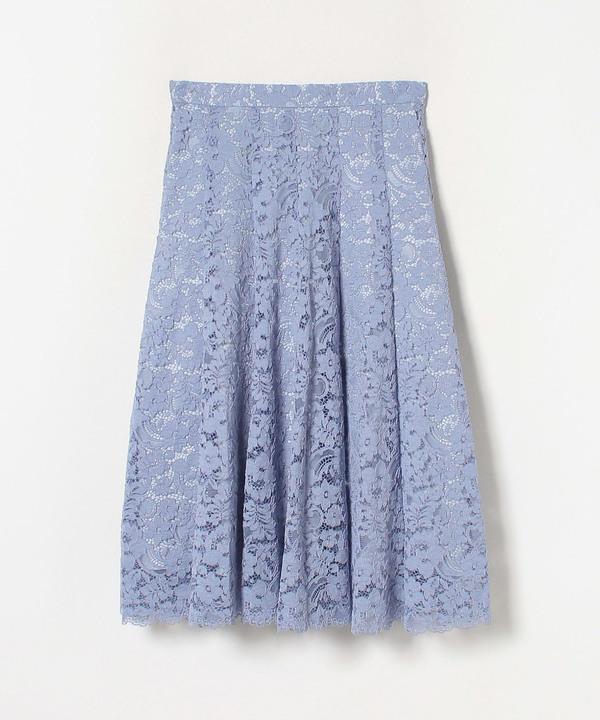 フラワーコードレースフレアスカート