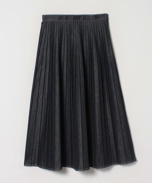 デニムチョウプリーツスカート